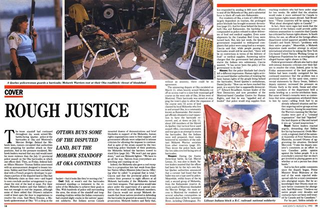 Article Preview: ROUGH JUSTICE, August 1990 | Maclean's