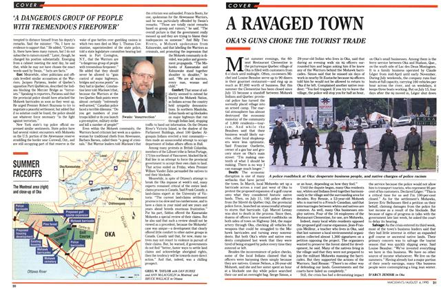 Article Preview: A RAVAGED TOWN, August 1990 | Maclean's