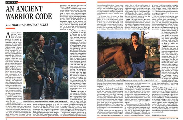 Article Preview: AN ANCIENT WARRIOR CODE, August 1990 | Maclean's