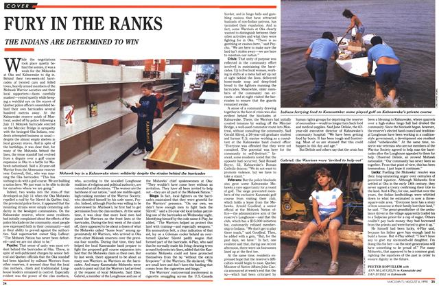 Article Preview: FURY IN THE RANKS, August 1990 | Maclean's