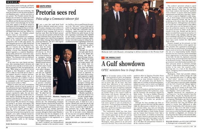 Article Preview: Pretoria sees red, August 1990 | Maclean's