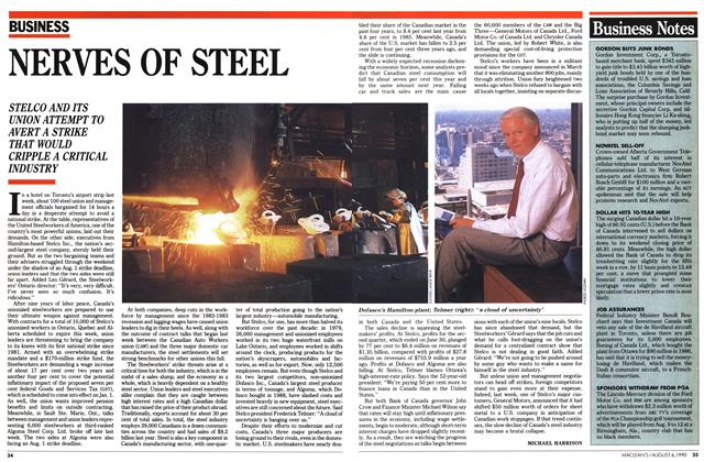 Article Preview: NERVES OF STEEL, August 1990 | Maclean's