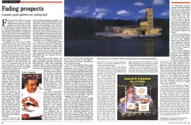Article Preview: Fading prospects, August 1990 | Maclean's