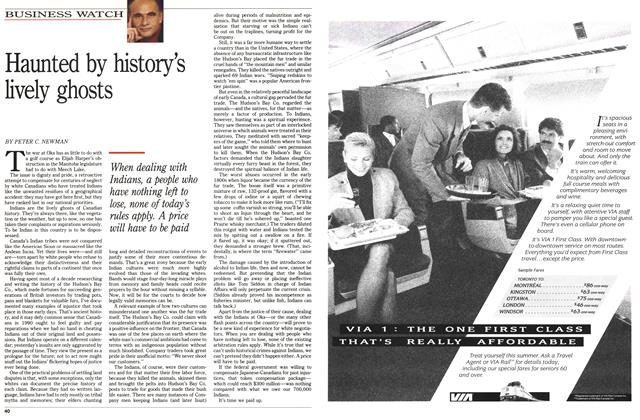 Article Preview: Haunted by history's lively ghosts, August 1990 | Maclean's