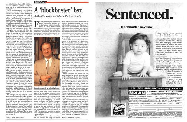 Article Preview: A 'blockbuster' ban, August 1990 | Maclean's