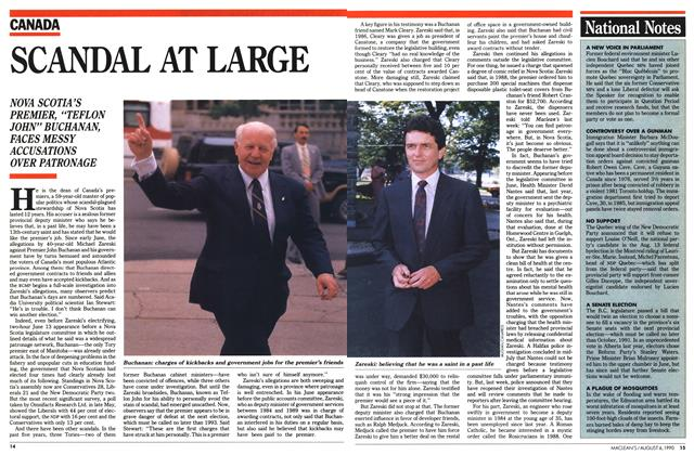 Article Preview: SCANDAL AT LARGE, August 1990 | Maclean's