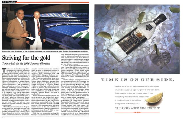 Article Preview: Striving for the gold, August 1990 | Maclean's