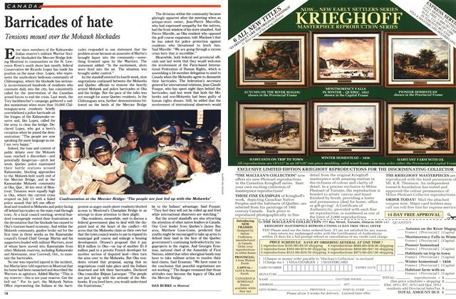 Article Preview: Barricades of hate, August 1990 | Maclean's