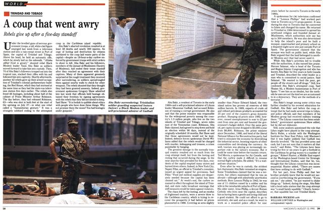Article Preview: A coup that went awry, August 1990 | Maclean's