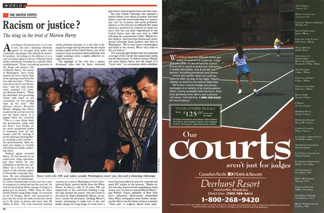 Article Preview: Racism or justice?, August 1990 | Maclean's