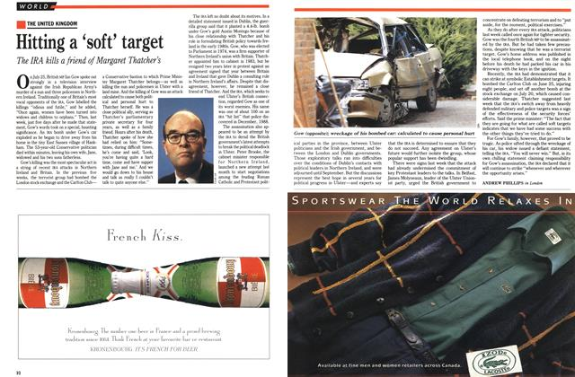 Article Preview: Hitting a 'soft' target, August 1990 | Maclean's
