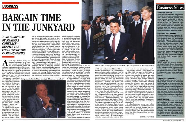 Article Preview: BARGAIN TIME IN THE JUNKYARD, August 1990 | Maclean's