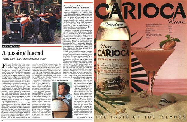 Article Preview: A passing legend, August 1990 | Maclean's