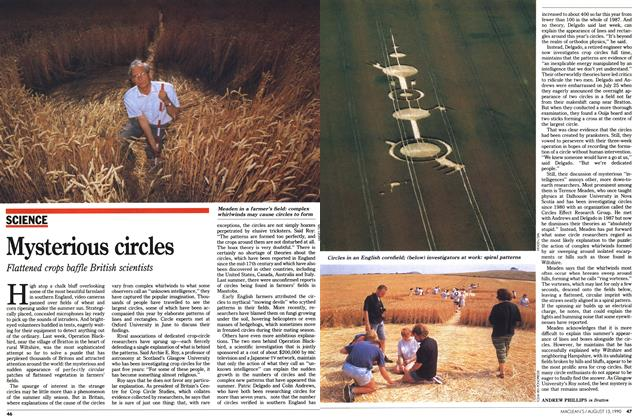 Article Preview: Mysterious circles, August 1990 | Maclean's
