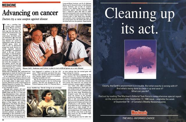 Article Preview: Advancing on cancer, August 1990 | Maclean's