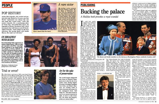 Article Preview: Bucking the palace, August 1990 | Maclean's