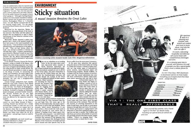 Article Preview: Sticky situation, August 1990 | Maclean's