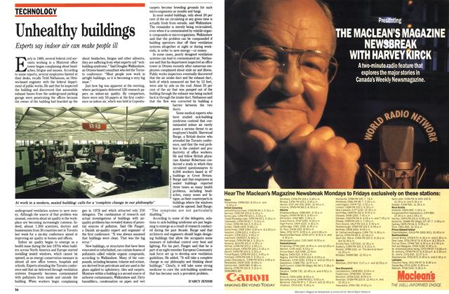 Article Preview: Unhealthy buildings, August 1990 | Maclean's
