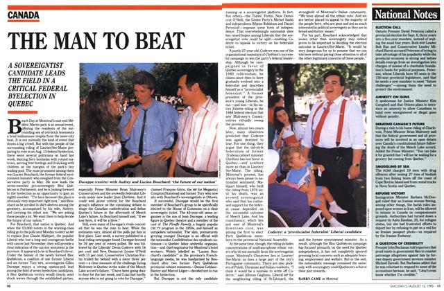 Article Preview: THE MAN TO BEAT, August 1990 | Maclean's