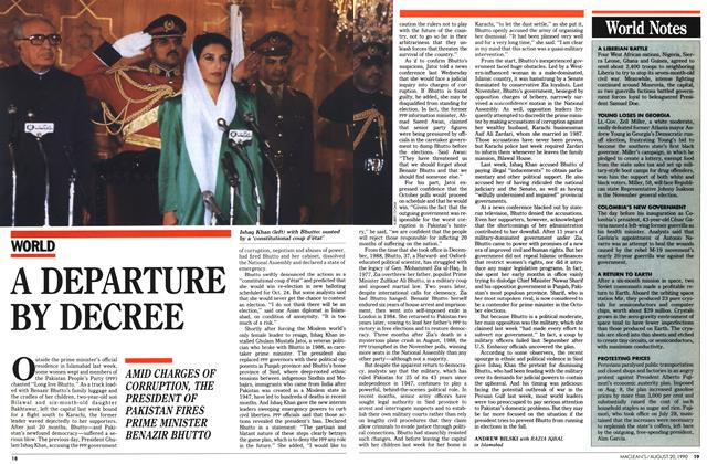 Article Preview: A DEPARTURE BY DECREE, August 1990 | Maclean's