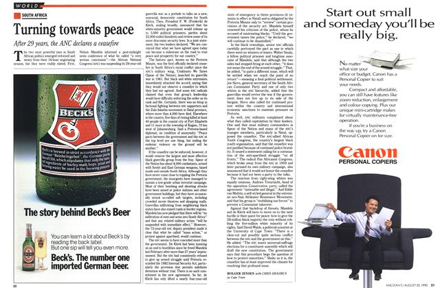 Article Preview: Turning towards peace, August 1990 | Maclean's