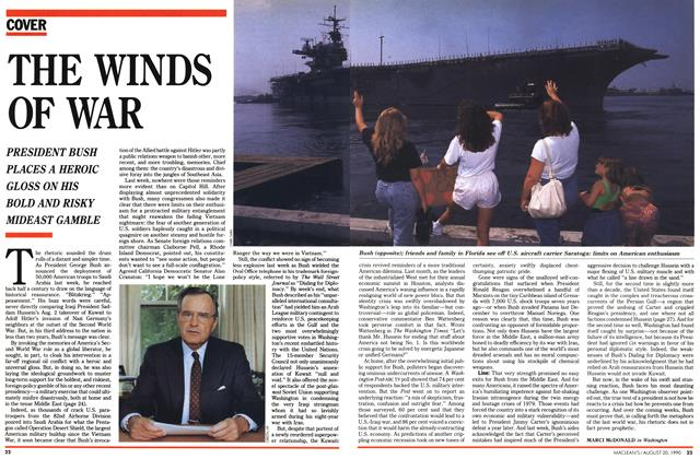 Article Preview: THE WINDS OF WAR, August 1990 | Maclean's