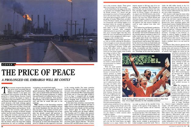 Article Preview: THE PRICE OF PEACE, August 1990 | Maclean's