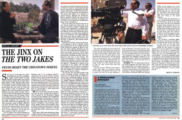 Article Preview: THE JINX ON THE TWO JAKES, August 1990 | Maclean's