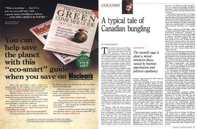 Article Preview: A typical tale of Canadian bungling, August 1990 | Maclean's