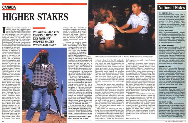 Article Preview: HIGHER STAKES, August 1990 | Maclean's