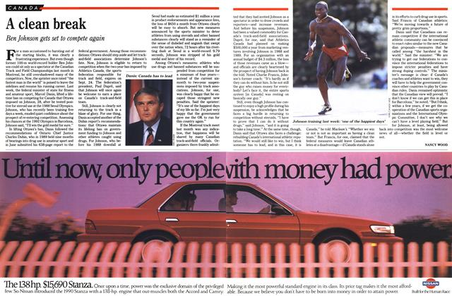 Article Preview: A clean break, August 1990 | Maclean's