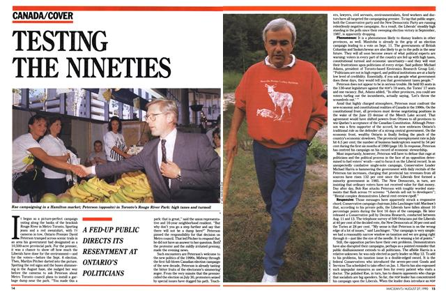 Article Preview: TESTING THE NINETIES, August 1990 | Maclean's