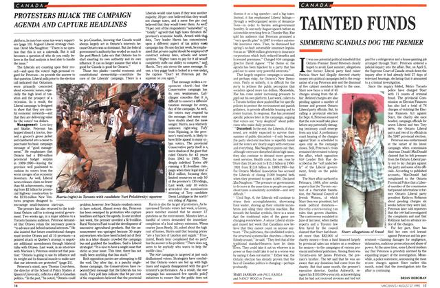 Article Preview: TAINTED FUNDS, August 1990 | Maclean's