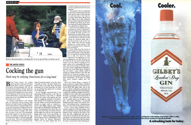 Article Preview: Cocking the gun, August 1990 | Maclean's