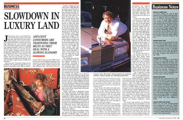 Article Preview: SLOWDOWN IN LUXURY LAND, August 1990 | Maclean's