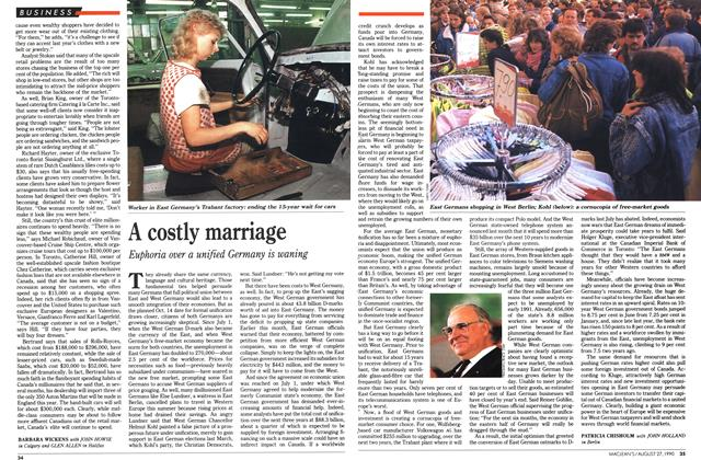 Article Preview: A costly marriage, August 1990 | Maclean's