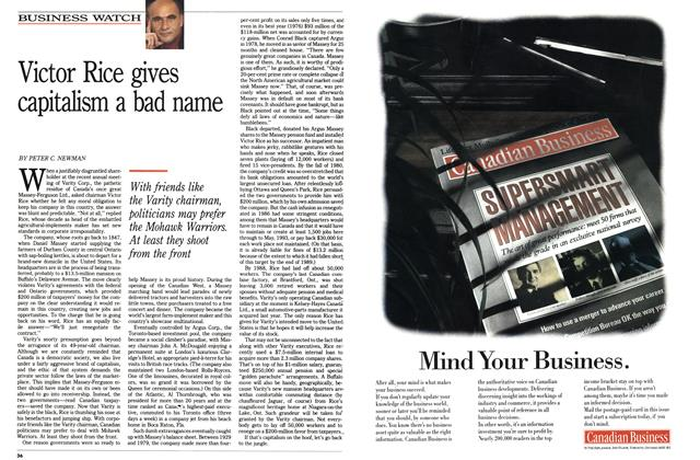 Article Preview: Victor Rice gives capitalism a bad name, August 1990 | Maclean's