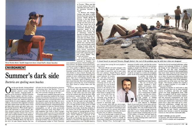 Article Preview: Summer's dark side, August 1990 | Maclean's