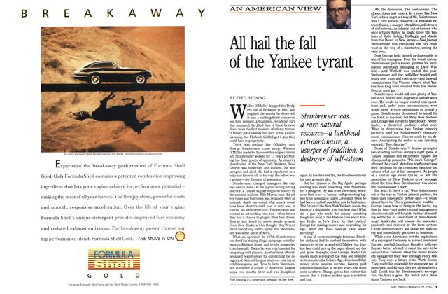 Article Preview: All hail the fall of the Yankee tyrant, August 1990 | Maclean's
