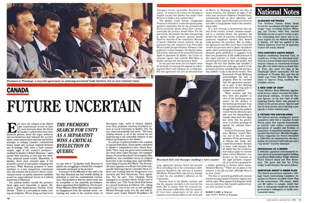 Article Preview: FUTURE UNCERTAIN, August 1990 | Maclean's