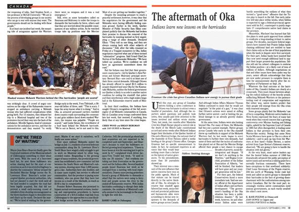 Article Preview: The aftermath of Oka, September 1990 | Maclean's