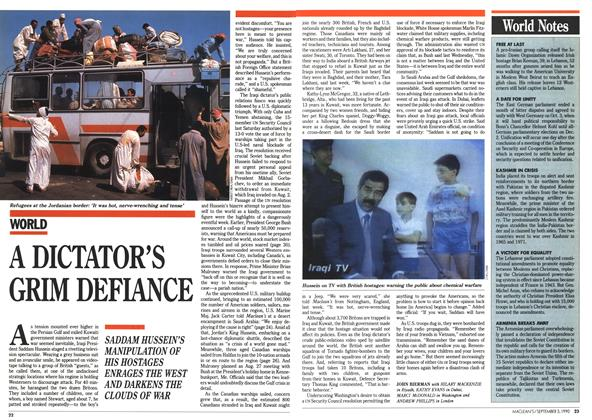 Article Preview: A DICTATOR'S GRIM DEFIANCE, September 1990 | Maclean's
