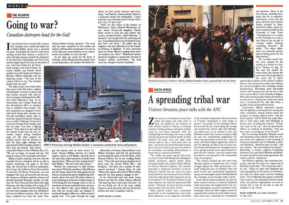 Article Preview: A spreading tribal war, September 1990 | Maclean's