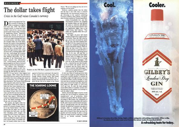 Article Preview: The dollar takes flight, September 1990 | Maclean's