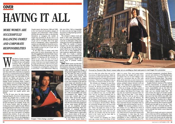 Article Preview: HAVING IT ALL, September 1990 | Maclean's