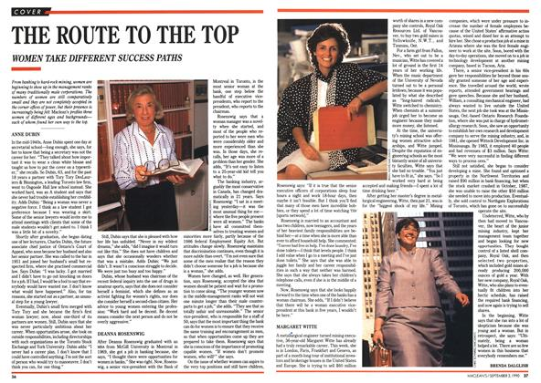 Article Preview: THE ROUTE TO THE TOP, September 1990 | Maclean's