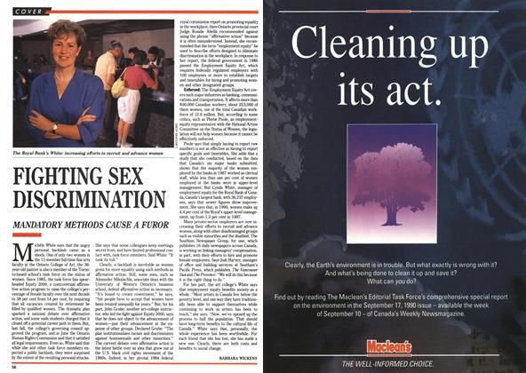 Article Preview: FIGHTING SEX DISCRIMINATION, September 1990 | Maclean's