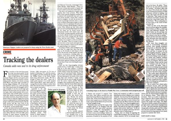 Article Preview: Tracking the dealers, September 1990 | Maclean's