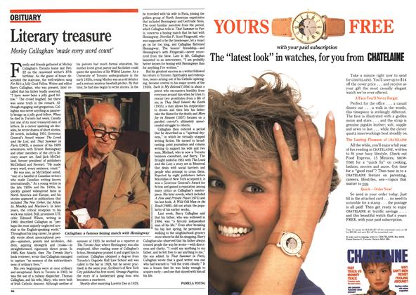 Article Preview: Literary treasure, September 1990 | Maclean's
