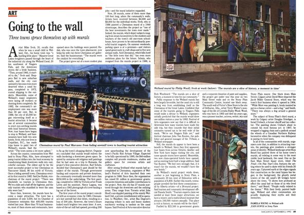 Article Preview: Going to the wall, September 1990 | Maclean's